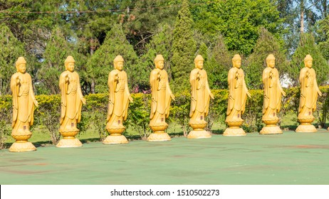 Buddha reincarnation statues at the Chen Tien Buddhist Temple in Foz do Iguaçu, Paraná, Brazil