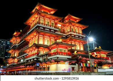 Buddha Relic Temple at Night