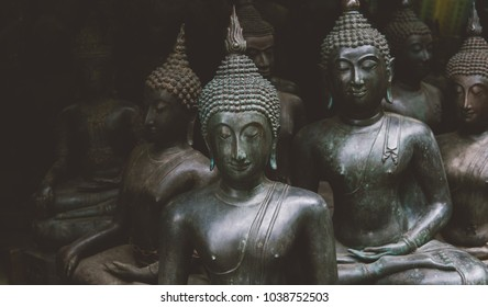 Buddha Shakyamuni is the symbol of Buddhism in the world close-u