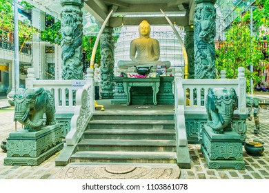 Buddha Shrine in Buddhist temple in Colombo, Sri Lanka