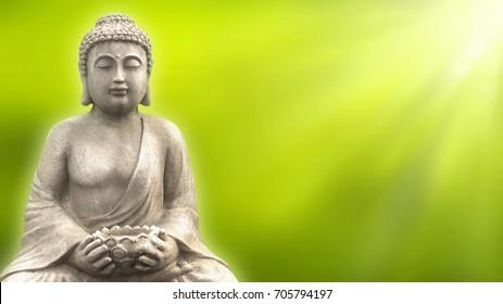 buddha in springtime
