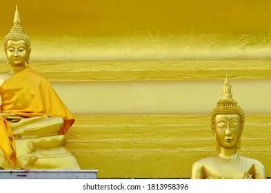 Buddha statue art  background.Detail art of Buddha temple architecture