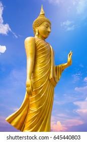 Buddha statue background sky
