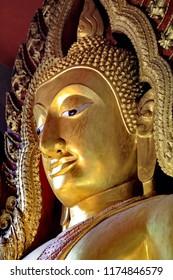 Buddha statue, a beautiful golden color.