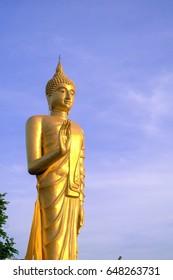 Buddha statue in beautiful sky.