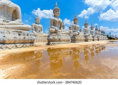 Buddha statue and blue sky, Nakhon Si Thammarat Province, Thailand