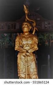 Buddha statue, God of water, blue dragon woman, at Mt.Takao, Tokyo, Japan