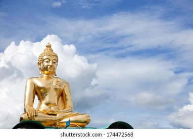 Buddha statue at golden triangle, Thailand