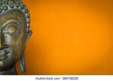 buddha statue head half face