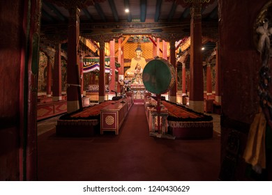 Buddha statue in Hemis temple monastery Leh-Ladakh , India