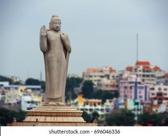 Buddha Statue in Hussain sagar Hyderabad.