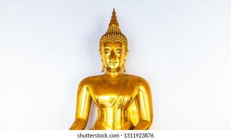 Buddha statue isolated on white background.