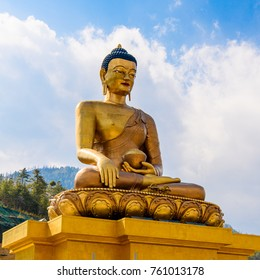 Buddha statue in the Kingdom of Bhutan