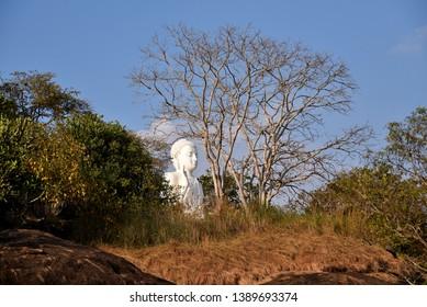 Buddha statue in Mihintale ancient city Sri Lanka