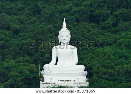 buddha statue on mountain thailand stock photo edit now 85871869