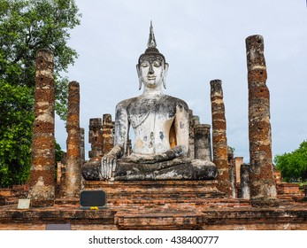 Buddha statue in Sukhothai , Thailand