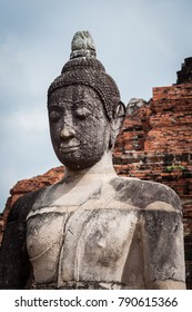 Buddha statue in Temple of Ayutthaya in Thailand