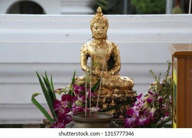 Buddha statue  temple blessing make merit pray alms bowl The Lord Buddha  Buddhist blessing alms bowl Nirvana  worship