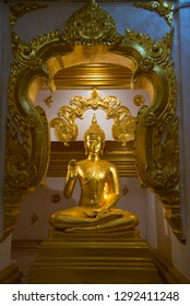 Buddha statue in the temple of Thailand.