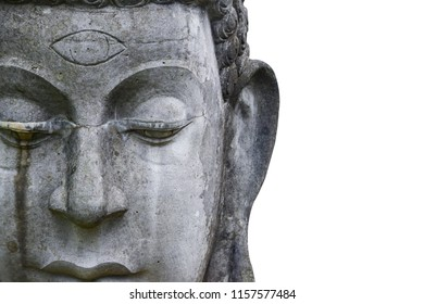 Buddha statue from Thailand.isolated on white background,symbol of religion buddhism.design with copy space add text