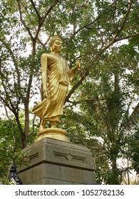 Buddha statue walking style