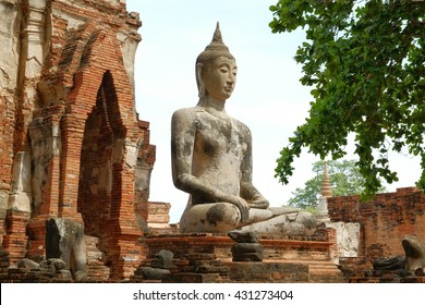 Buddha statue in wat pha that.Ayutthaya,thailand