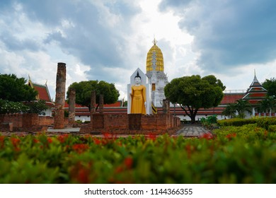 Buddha statue at Wat Phra Si Rattana Mahathat also colloquially referred to as Wat Yai  in Phitsanulok Province,Thailand.