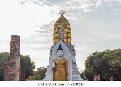 Buddha statue at Wat Phra Si Rattana Mahathat or Wat Yai is a Buddhist temple in Phitsanulok Province, Thailand