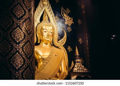 Buddha statue in Wat Phra Sri Rattana Mahathat Temple, Phitsanulok, Thailand