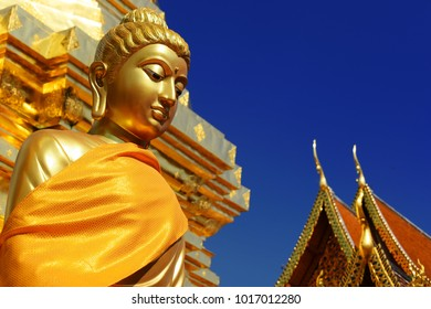 Buddha statue at Wat Phra That Doi Suthep, a Buddhist temple in Chiang Mai Province, Thailand