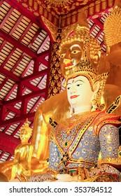 The Buddha Statue in Wat Suan Dok, Chiangmai, Thailand