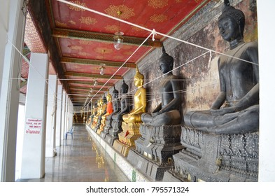 Buddha statue at Wat Suthat Bangkok Thailand.