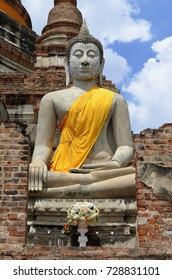 Buddha statue at Wat Yai Chai Mongkhon in Ayutthaya, Thailand