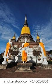 Buddha Statue at Wat Yai Chaimongkol, Ayutthaya, Thailand