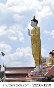 Buddha Statue Wooden Wat Phra Muang Chiang Mai Thailand