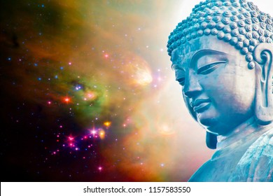 Buddha statue.isolated on white background,symbol of religion buddhism.design with copy space add text