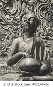 Buddha statues alms bowl