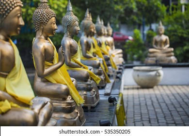 Buddha Statues in Seema Malaka Temple, Colombo, Sri Lanka