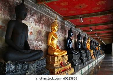Buddha Statues in Wat Suthat Temple, Bangkok