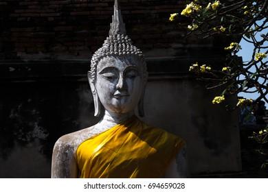 Buddha statues at Wat Yai Chaimongkol Ayutthaya thailand