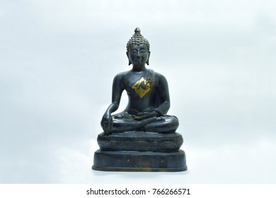 Buddha statute on the white background, is one of the most important thing for reminding to Lord Buddha.
