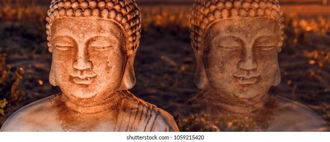 Buddha at sunrise