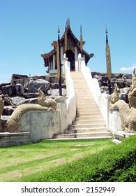 a buddha temple at pattaya, thailand