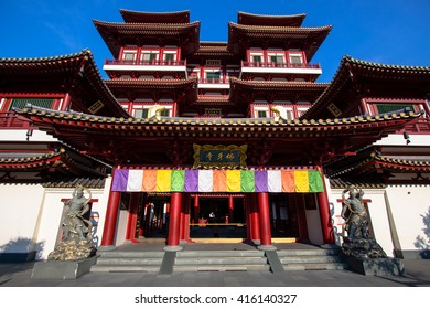The Buddha Tooth Relic Temple in Chinatown, Singapore