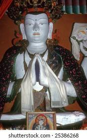 Buddha, in village temple Buddha, in village temple  Helambu Himalayas, Nepal, Asia