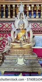 buddha at wat suan dok tample ,chiangmai,thailand  28 december 2015