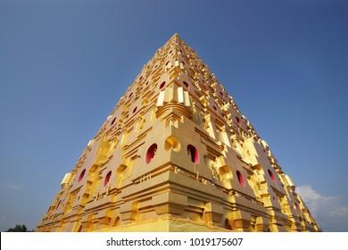Buddhagaya Pagoda in sangkhlaburi Thailand