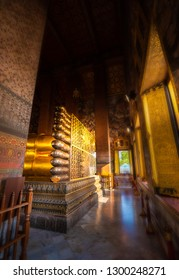 Buddha's Feet Wat Phra Chetuphon Reclining Buddha Bangkok Thailand