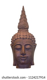 Buddha's head isolated on white background. (with clipping path)