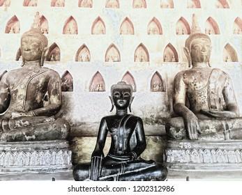Buddhas at Wat Sisaket, Vientiane, Laos